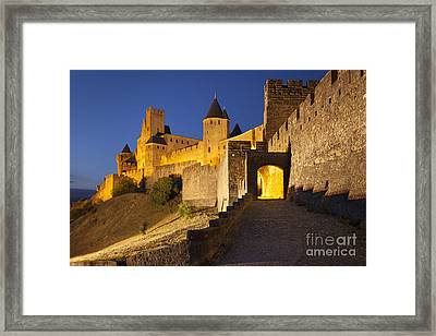 Medieval Carcassonne Framed Print by Brian Jannsen