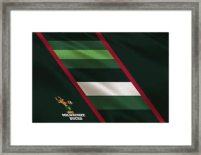 Milwaukee Bucks Uniform Framed Print by Joe Hamilton