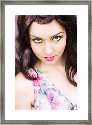 Model Framed Print by Jorgo Photography - Wall Art Gallery