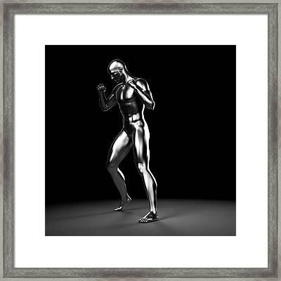 Person Boxing Framed Print by Sebastian Kaulitzki