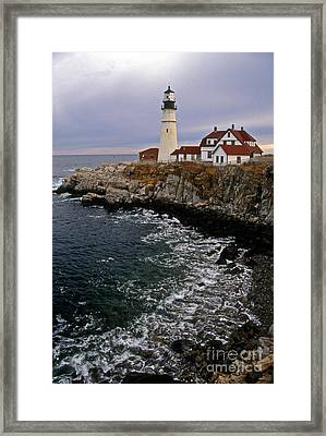 Portland Head Lighthouse Framed Print by Skip Willits