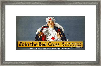 Red Cross Poster, 1917 Framed Print by Granger