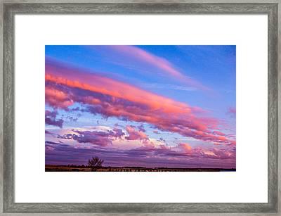 Severe Storms In South Central Nebraska Framed Print by NebraskaSC