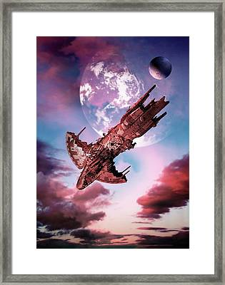 Spacecraft Framed Print by Victor Habbick Visions