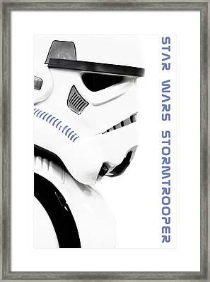 Star Wars Stormtrooper Framed Print by Toppart Sweden