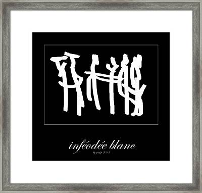 Subservient White Framed Print by Sir Josef Social Critic - ART