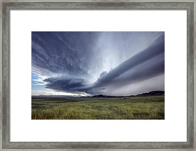 Supercell Thunderstorm Framed Print by Roger Hill