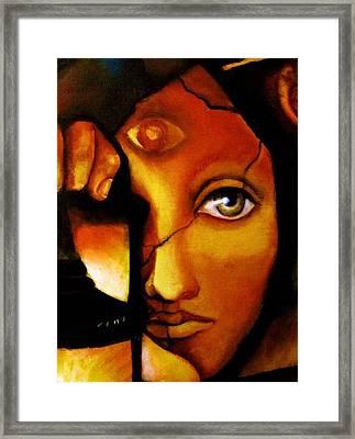 The Seeker Framed Print by Dalgis Edelson