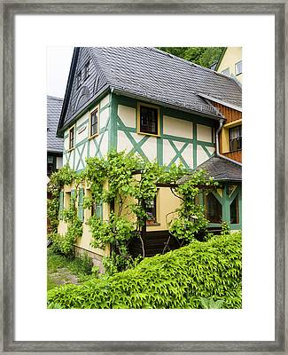 Traditional Half-timbered Buildings Framed Print by Martin Zwick
