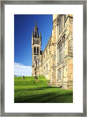 University Of Glasgow Framed Print by Grant Glendinning