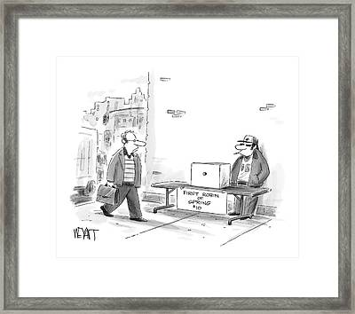 Untitled Framed Print by Christopher Weyant
