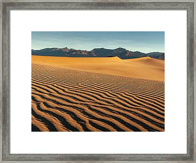 Usa, California, Death Valley National Framed Print by Ann Collins