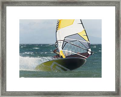 Windsurfing Tarifa, Cadiz, Andalusia Framed Print by Ben Welsh
