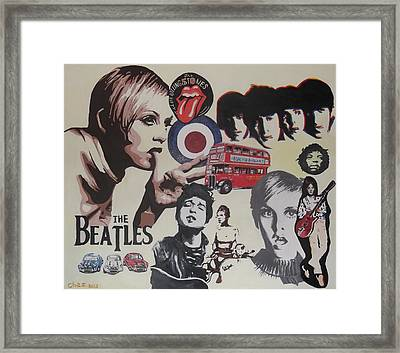 60's Montage Framed Print by Cherise Foster