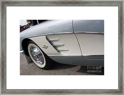 61 Corvette-grey-sidepanel-9241 Framed Print by Gary Gingrich Galleries