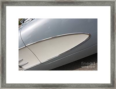 61 Corvette-grey-sidepanel-9244 Framed Print by Gary Gingrich Galleries