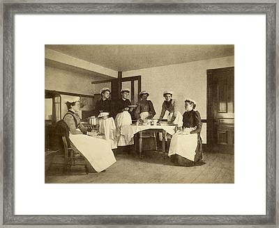 Pie Bakers Framed Print by Underwood Archives