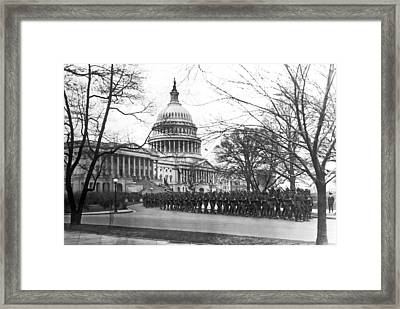 63rd Infantry Ready In Dc Framed Print by Underwood Archives