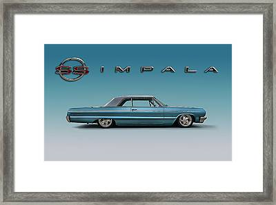 '64 Impala Ss Framed Print by Douglas Pittman