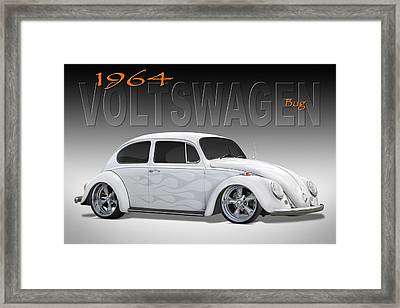 64 Volkswagen Beetle Framed Print by Mike McGlothlen
