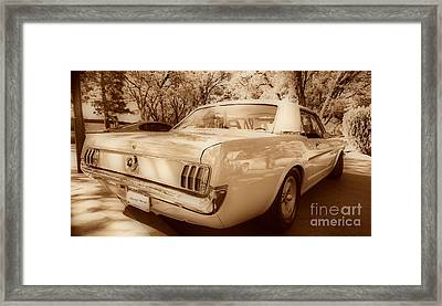 65 Mustang Framed Print by Cheryl Young
