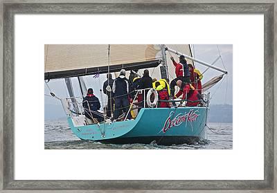 Whidbey Island Race Week Framed Print by Steven Lapkin