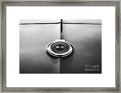 66 Corvette Gas Cap  Framed Print by Tim Gainey