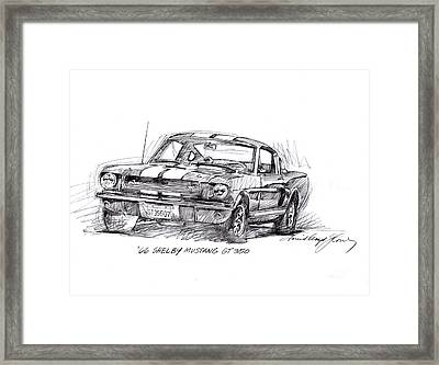 66 Shelby 350 Gt Framed Print by David Lloyd Glover
