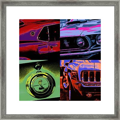 '69 Mustang Framed Print by Gordon Dean II