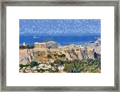 Acropolis Of Athens Framed Print by George Atsametakis
