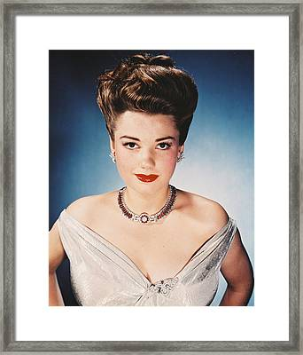 Anne Baxter Framed Print by Silver Screen