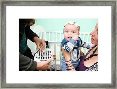 Babylab Experiment Framed Print by Nasir Hamid/oxford University Images