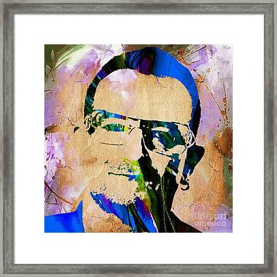 Bono U2 Framed Print by Marvin Blaine