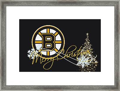 Boston Bruins Framed Print by Joe Hamilton