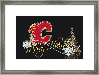 Calgary Flames Framed Print by Joe Hamilton