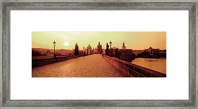 Charles Bridge, Prague, Czech Republic Framed Print by Panoramic Images