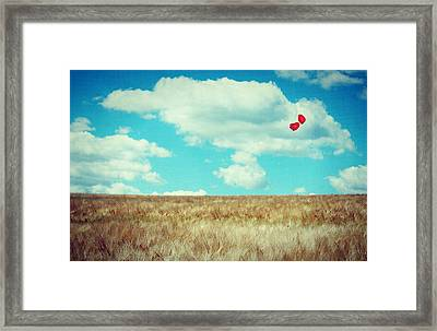 Declaration Of Love Framed Print by Heike Hultsch