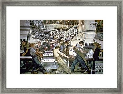 Diego Rivera - Detroit Framed Print by Granger