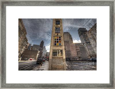 Downtown Synagogue In Detroit Framed Print by Twenty Two North Photography
