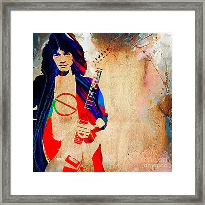 Eddie Van Halen Framed Print by Marvin Blaine