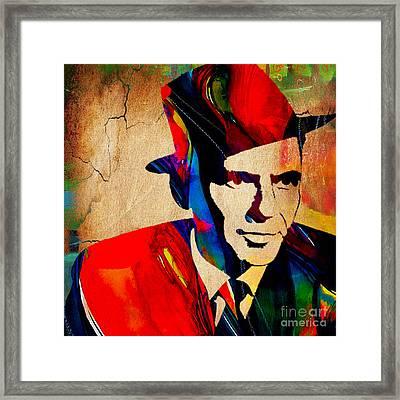 Frank Sinatra Framed Print by Marvin Blaine