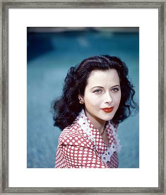 Hedy Lamarr Framed Print by Silver Screen