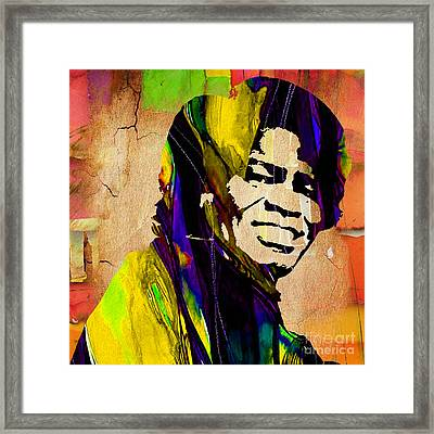 James Brown Collection Framed Print by Marvin Blaine