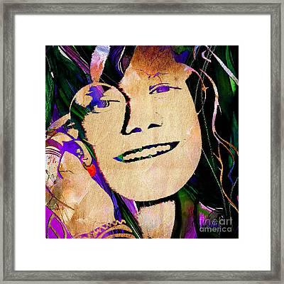 Janis Joplin Collection Framed Print by Marvin Blaine