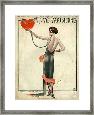 La Vie Parisienne  1925  1920s France Framed Print by The Advertising Archives