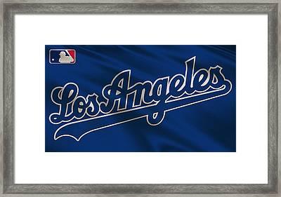 Los Angeles Dodgers Uniform Framed Print by Joe Hamilton