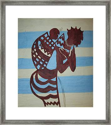 Madonna And Child Framed Print by Gloria Ssali