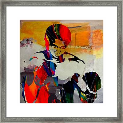 Muhammed Ali Framed Print by Marvin Blaine