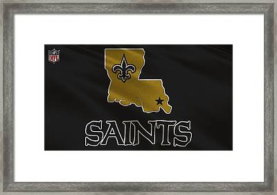 New Orleans Saints Uniform Framed Print by Joe Hamilton
