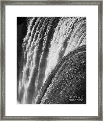 Niagara Falls New York In Black And White Framed Print by ELITE IMAGE photography By Chad McDermott